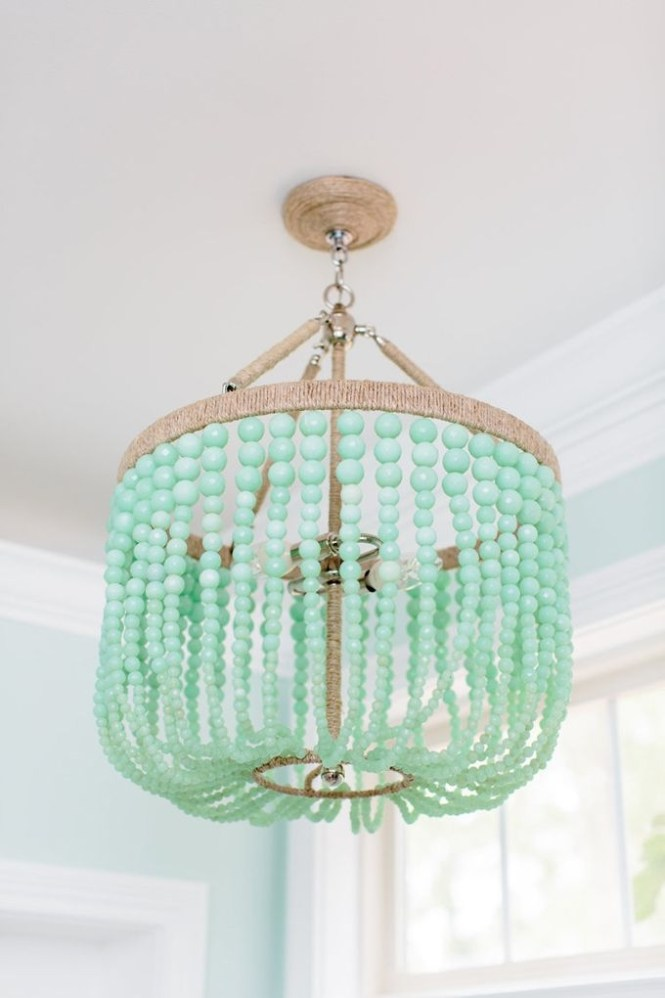 Best 20 Turquoise Chandelier Ideas On Pinterest French Bistro Intended For Beaded Light Fixtures