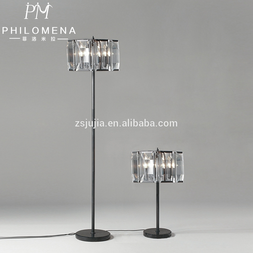 25 Best Collection of Black Chandelier Standing Lamps