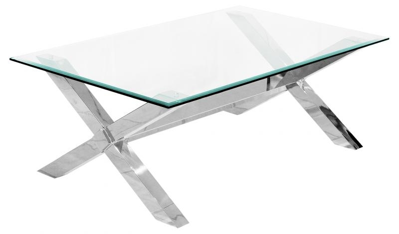 50 Best Collection Of Rectangle Glass Chrome Coffee Tables