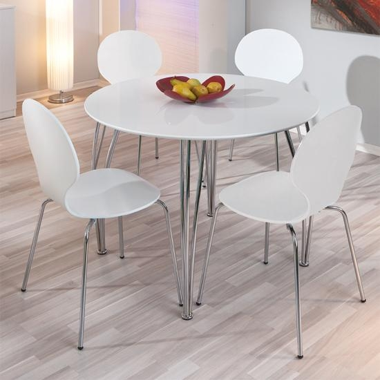 20 White Circle Dining Tables Dining Room Ideas