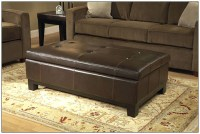 Top 50 Brown Leather Ottoman Coffee Tables | Coffee Table ...