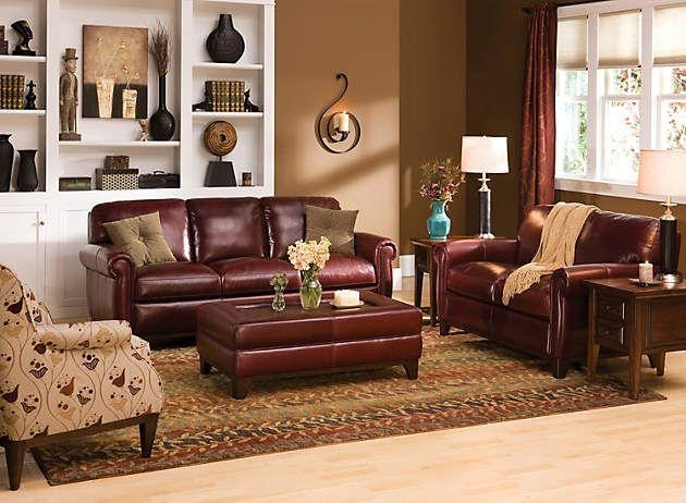 how to decorate my living room with black sofas formal accent tables 20 inspirations burgundy leather sofa sets | ideas