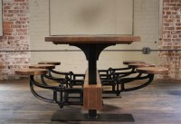 20+ Dining Tables With Attached Stools
