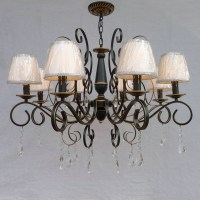 25 Best Collection of Chandelier With Shades and Crystals ...
