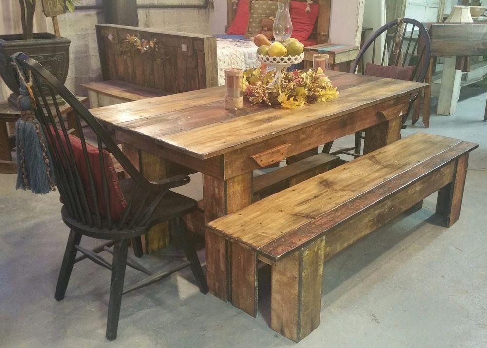 20 Collection of Rustic Dining Tables  Dining Room Ideas
