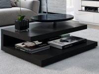 40 Inspirations Revolving Glass Coffee Tables