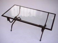 Iron Glass Coffee Table