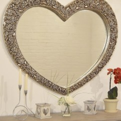 How To Make A Sofa Table Top Comfort Sofas And Chairs 20 Heart Shaped Mirrors For Walls | Mirror Ideas