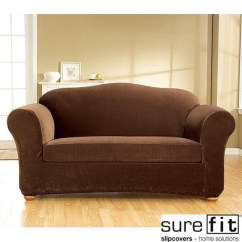 Sure Fit Stretch Pique 3 Piece T Cushion Sofa Slipcover Henredon Fireside 20 Inspirations Slipcovers | Ideas