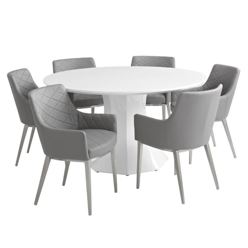 20 Collection of Large White Round Dining Tables  Dining