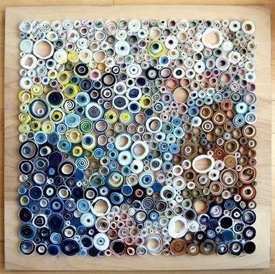 SaveEnlarge Recycled Materials Art Wall Artbar