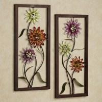 20 Best Purple Flower Metal Wall Art | Wall Art Ideas