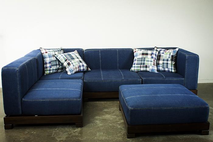 Decorating Blue Denim Sofa