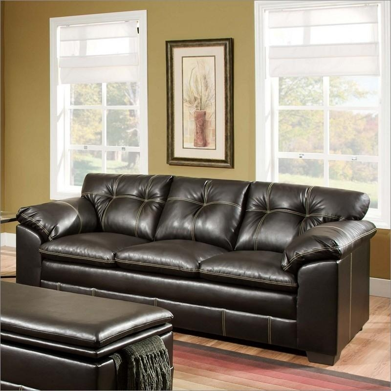 20 Collection of Simmons Bonded Leather Sofas