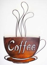 Metal Coffee Cup Wall Art | Wall Art Ideas