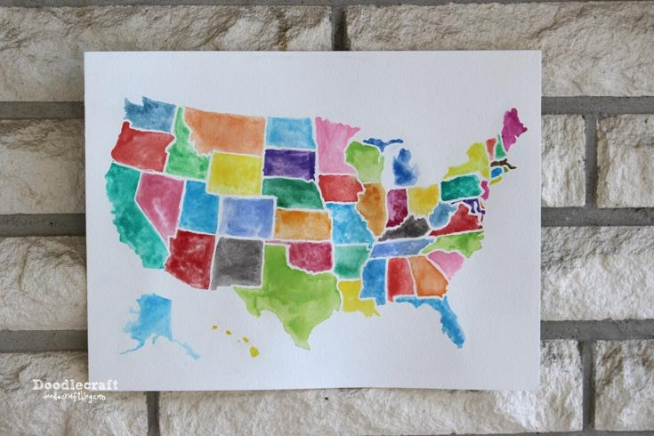 20 Ideas of United States Map Wall Art