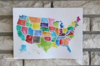 20 Ideas of United States Map Wall Art | Wall Art Ideas