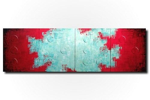 20 Best Ideas Red And Turquoise Wall Art