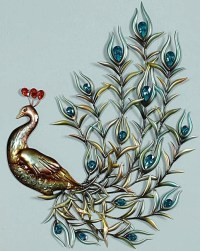 Metal Peacock Wall Art | Wall Art Ideas