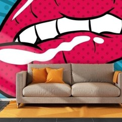 Black And White Themed Living Room Ideas Hanging Shelves For 20 Photos Pop Art Wallpaper Walls | Wall