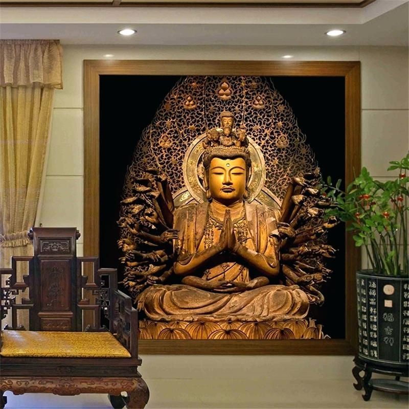Embossed 3d Wallpaper Uk 20 Ideas Of Large Buddha Wall Art Wall Art Ideas
