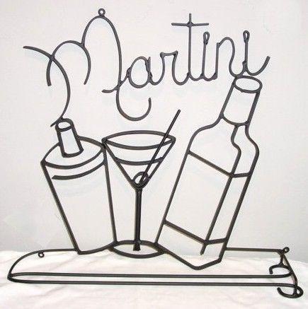 Martini Metal Wall Art - martini metal wall art 2 metal black ...