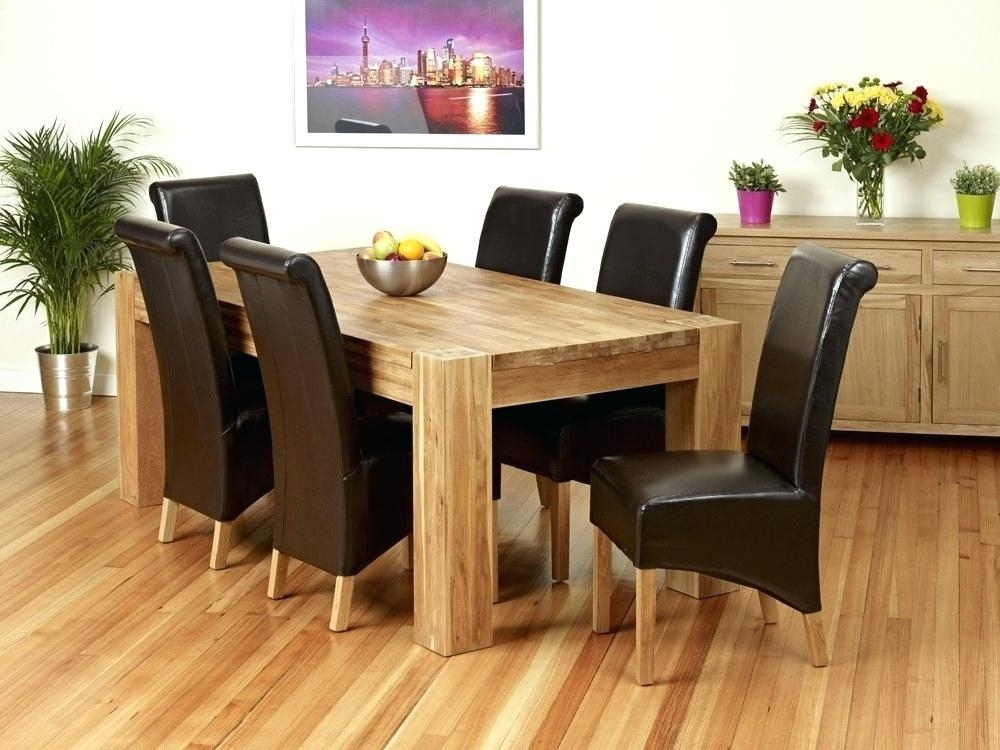 20 Best Collection Of Light Oak Dining Tables And 6 Chairs