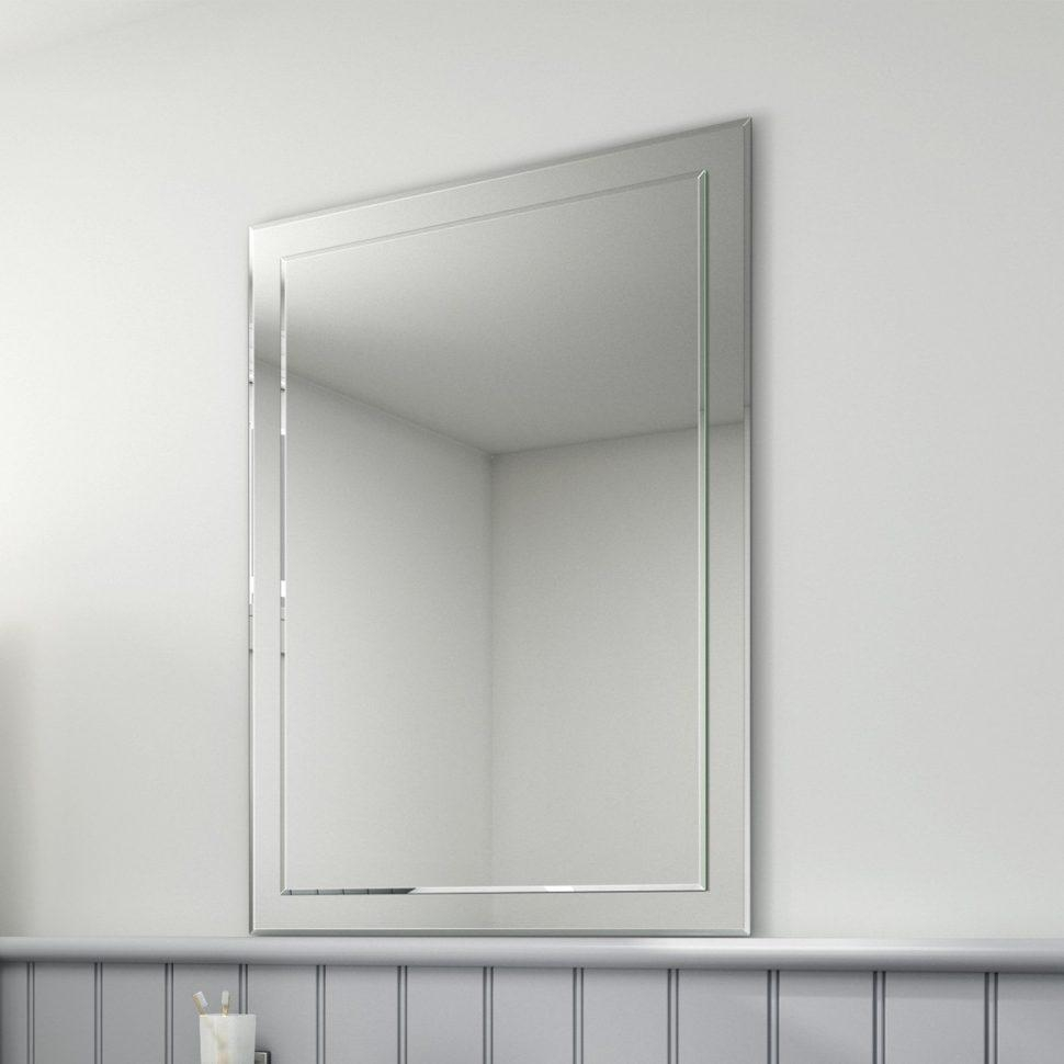20 Ideas of No Frame Wall Mirrors  Mirror Ideas
