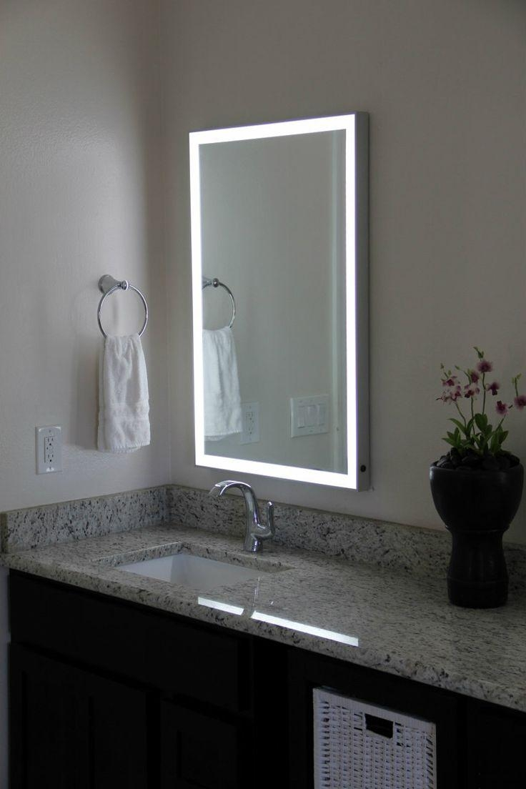 20 Inspirations Bathroom Wall Mirrors With Lights  Mirror