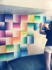 Paint Swatch Wall Art   Wall Art Ideas