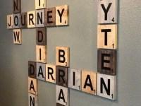 20 Ideas of Scrabble Names Wall Art   Wall Art Ideas