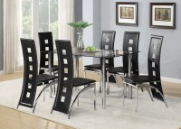 Glass Dining Tables and Leather Chairs | Dining Room Ideas