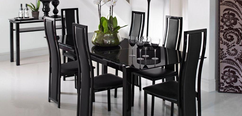 Top 20 Black Gloss Extending Dining Tables Dining Room Ideas