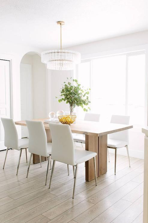 20 Best Collection of White Leather Dining Room Chairs