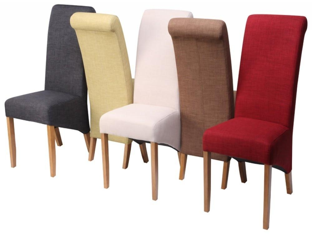 20 Photos Fabric Covered Dining Chairs