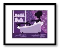 Top 20 Purple Bathroom Wall Art | Wall Art Ideas