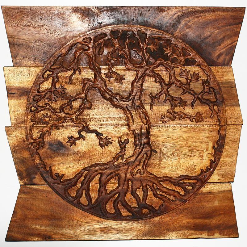 Tree Of Life Wood Carving Wall Art - tree of life wall art tree of ...