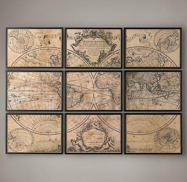 Best collection of old map wall art wall art ideas iltribuno best collection of old map wall art wall art ideas gumiabroncs Images