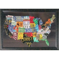 20 Best Usa Map Wall Art | Wall Art Ideas