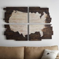 Wall Art: Wood Map Wall Art (#9 of 20 Photos)