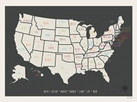 20 Inspirations State Map Wall Art