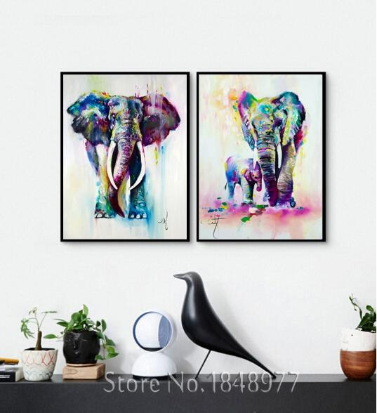 Topic Abstract Elephant Wall Art
