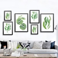 20 Collection of Abstract Leaves Wall Art | Wall Art Ideas