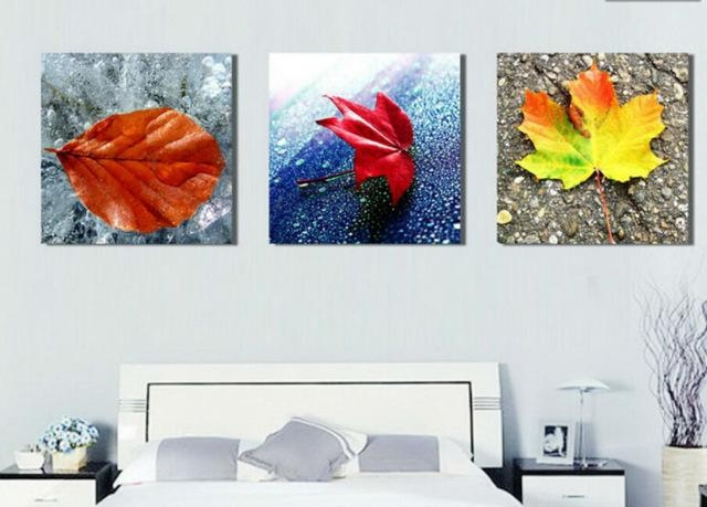 20 Collection Of Abstract Leaves Wall Art