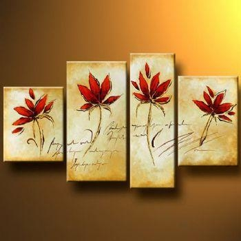 20 Collection of Red Flowers Canvas Wall Art