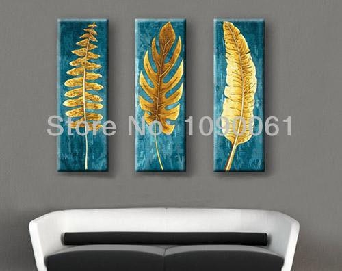 20 Collection of Abstract Leaves Wall Art  Wall Art Ideas