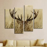20 Best Deer Canvas Wall Art | Wall Art Ideas