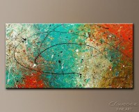 Abstract Orange Wall Art | Wall Art Ideas