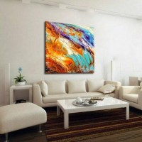 Wall Art: Abstract Oversized Canvas Wall Art (#9 of 20 Photos)