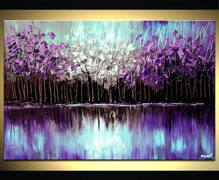 20 Best Collection of Purple and Grey Abstract Wall Art